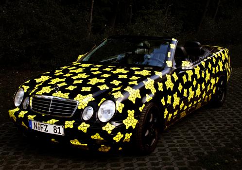 Penrose-Pattern, Autolack auf Mercedes CLK