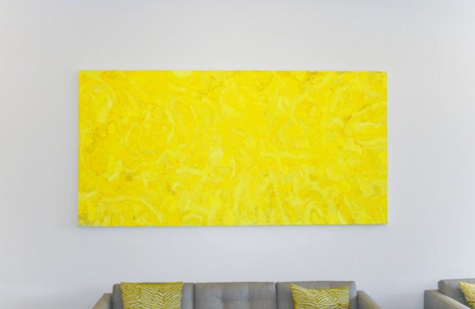 Thermische Verschiebung,Acryl auf Leinwand,250 / 125 cm