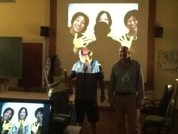 Vortragmit Maria José Ruiz und Direktor Miguel Clementson Foto: José Lopez