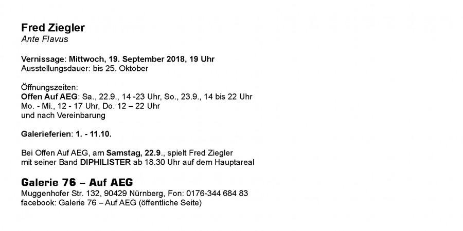 Fred Ziegler Einladungskarte Rückseite